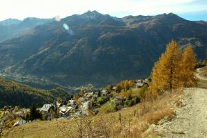 Photos du Valais: Saint Luc impression d'automne